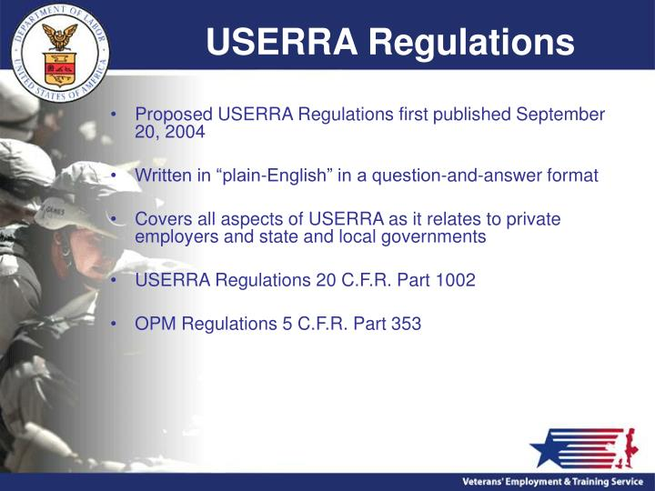 USERRA Regulations