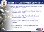 what is uniformed service