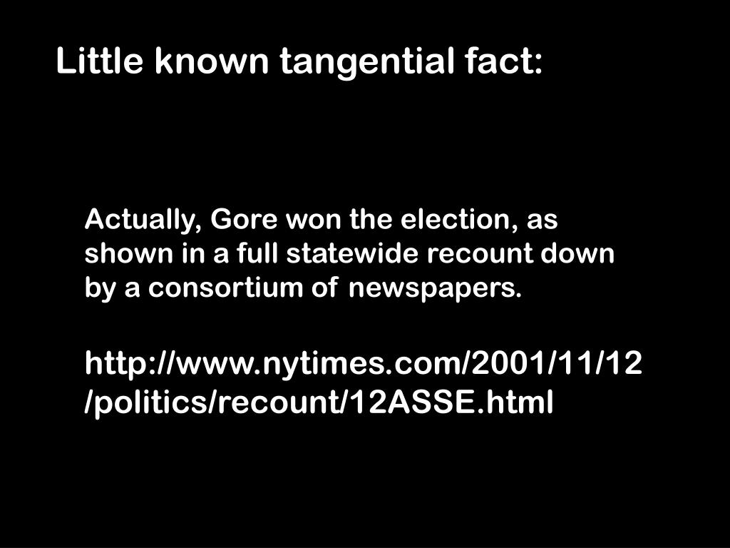 Little known tangential fact: