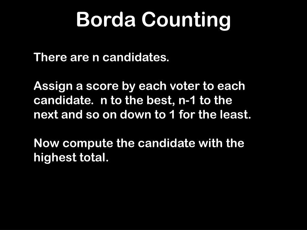 Borda Counting