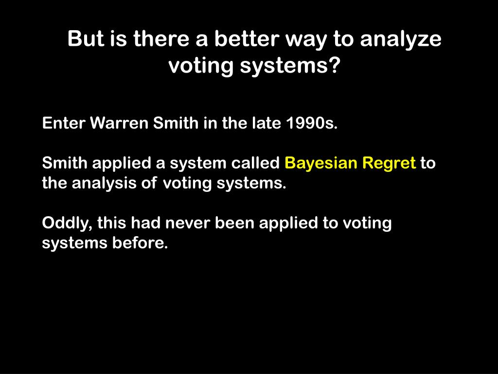 But is there a better way to analyze voting systems?