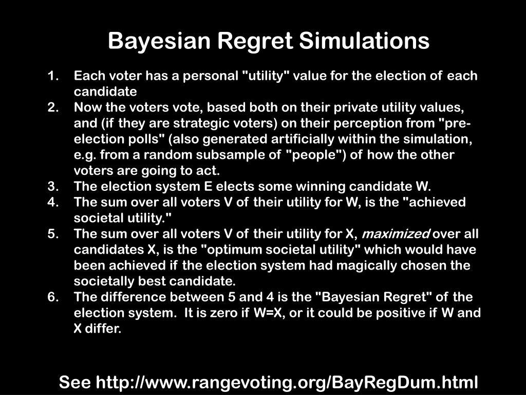 Bayesian Regret Simulations