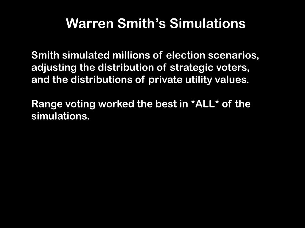 Warren Smith's Simulations