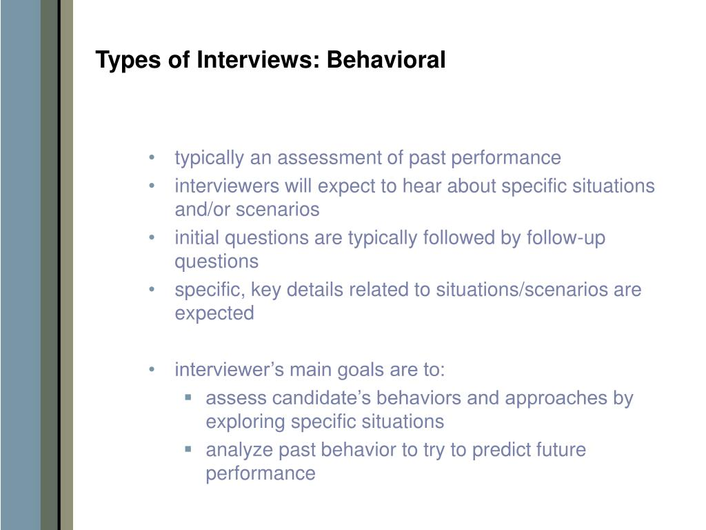 Types of Interviews: Behavioral