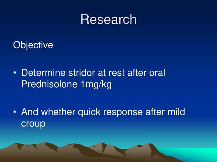croup stridor steroids