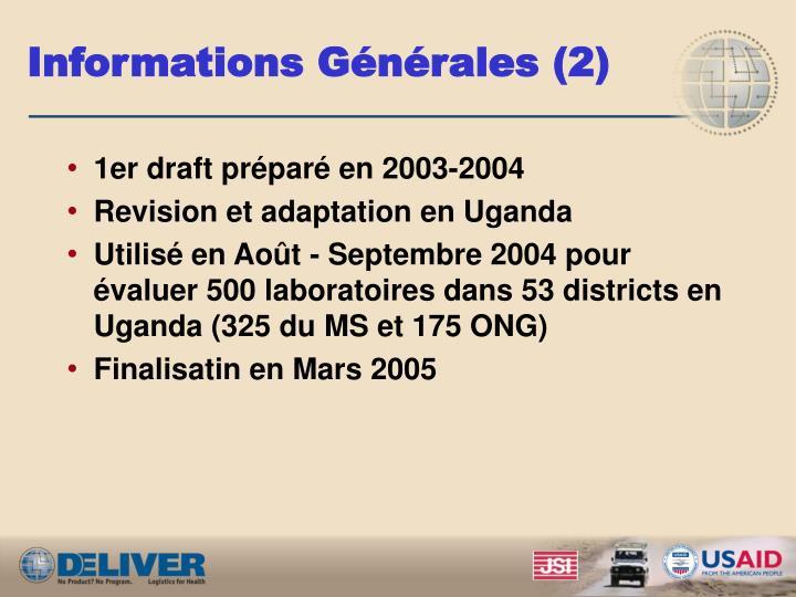 Informations Générales (2)