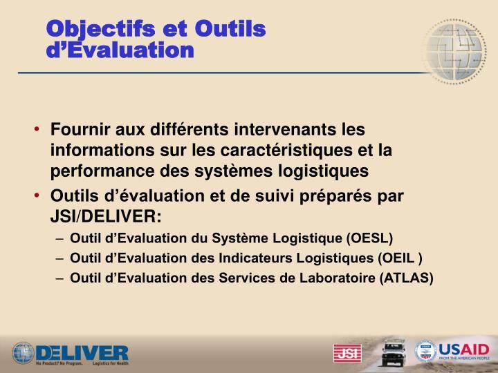 Objectifs et Outils d'Evaluation
