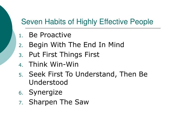 7 habits of highly effective people  University of Colorado