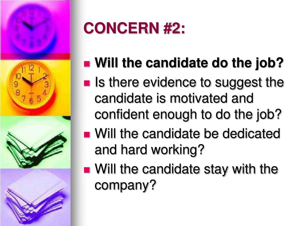 CONCERN #2: