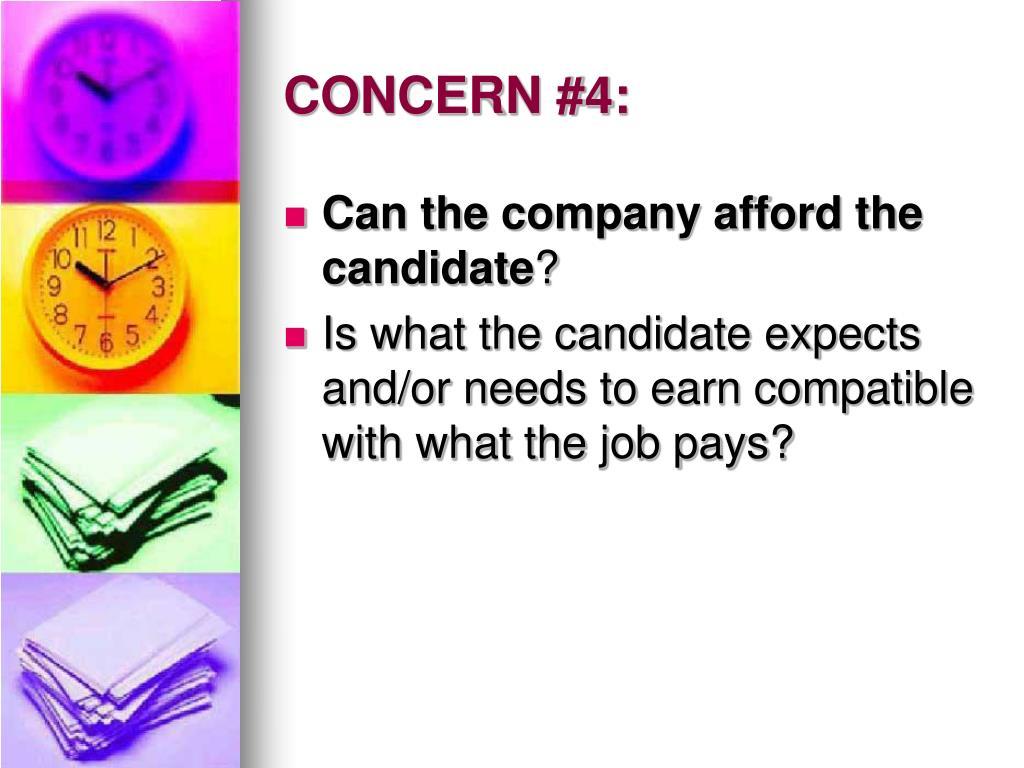 CONCERN #4: