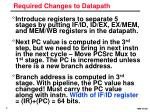 required changes to datapath