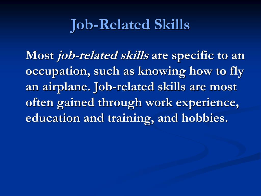 Job-Related Skills