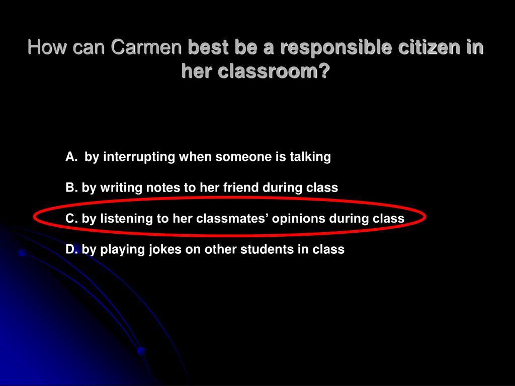How can Carmen