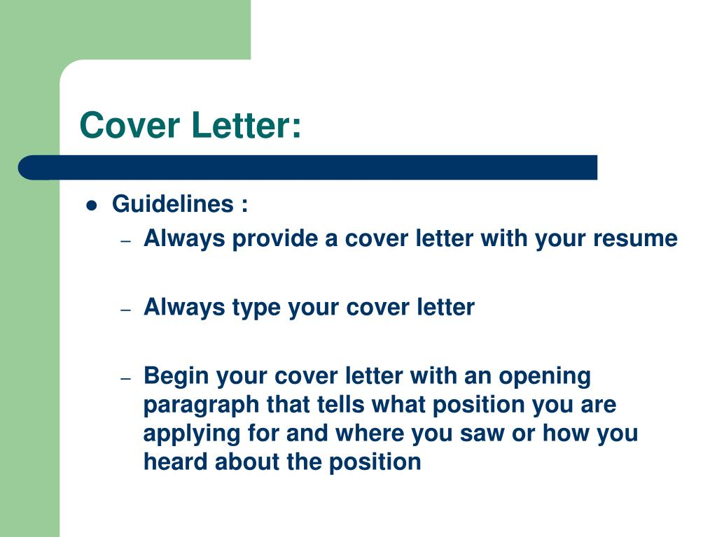 Cover Letter: