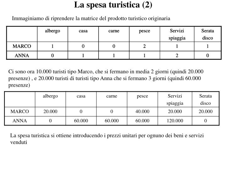 La spesa turistica (2)