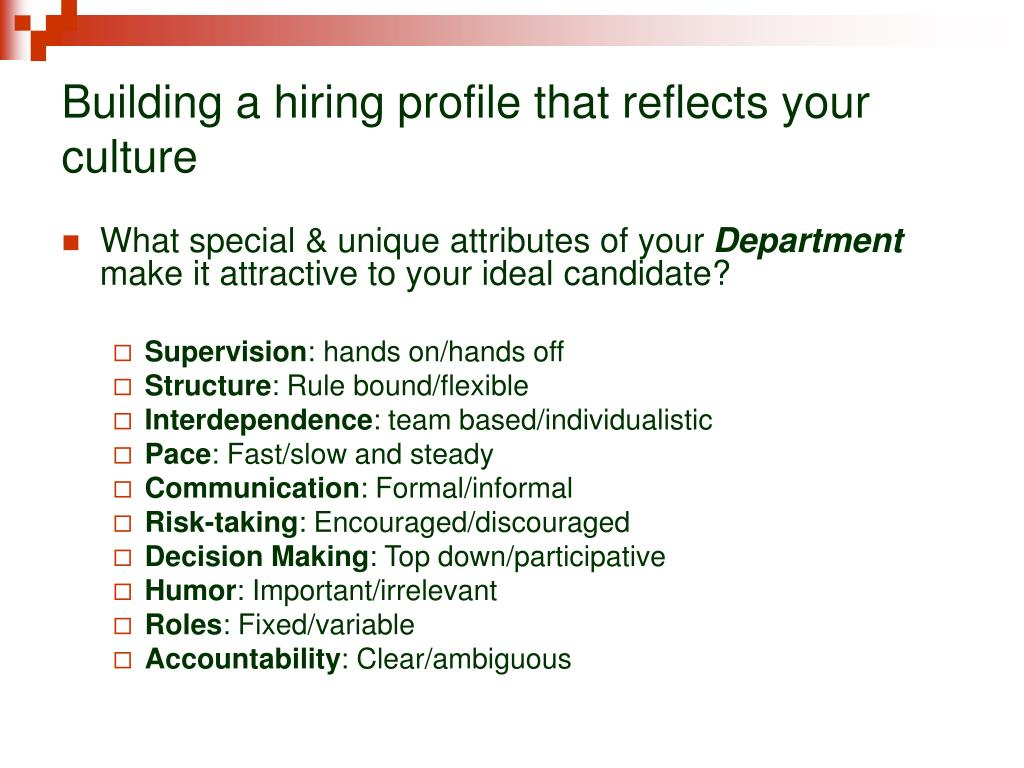 Building a hiring profile that reflects your culture