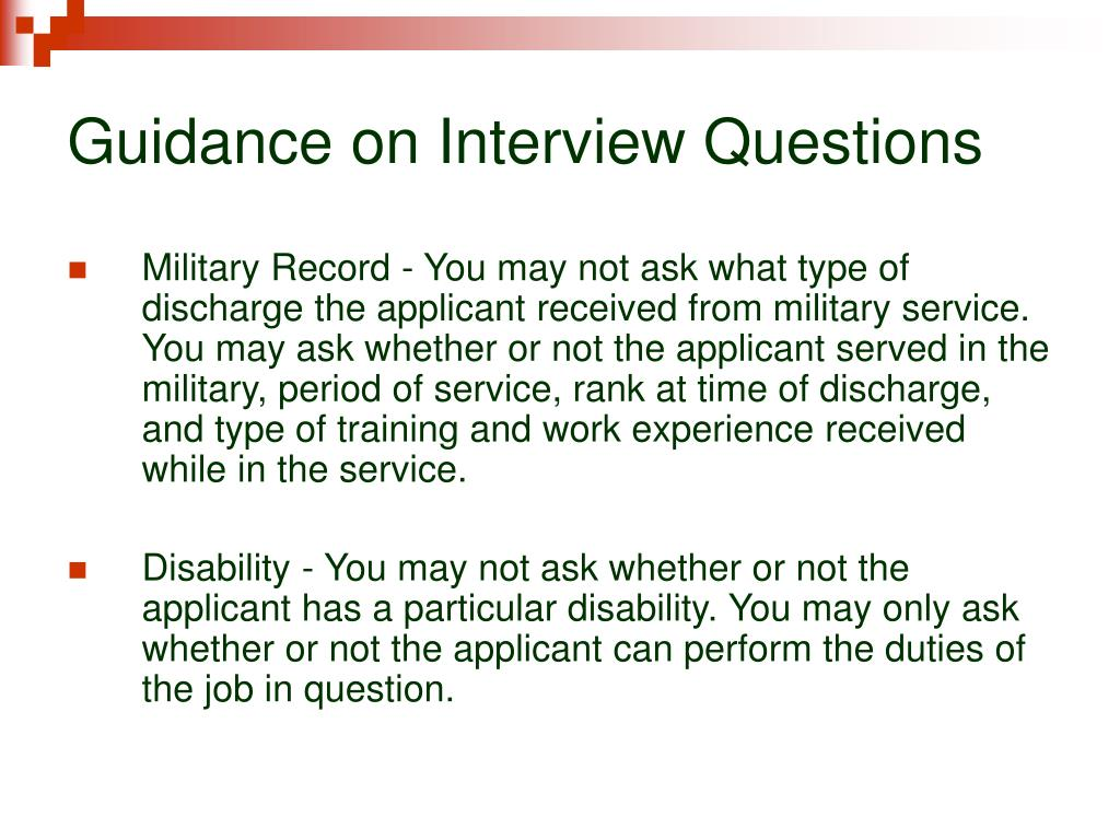 Guidance on Interview Questions