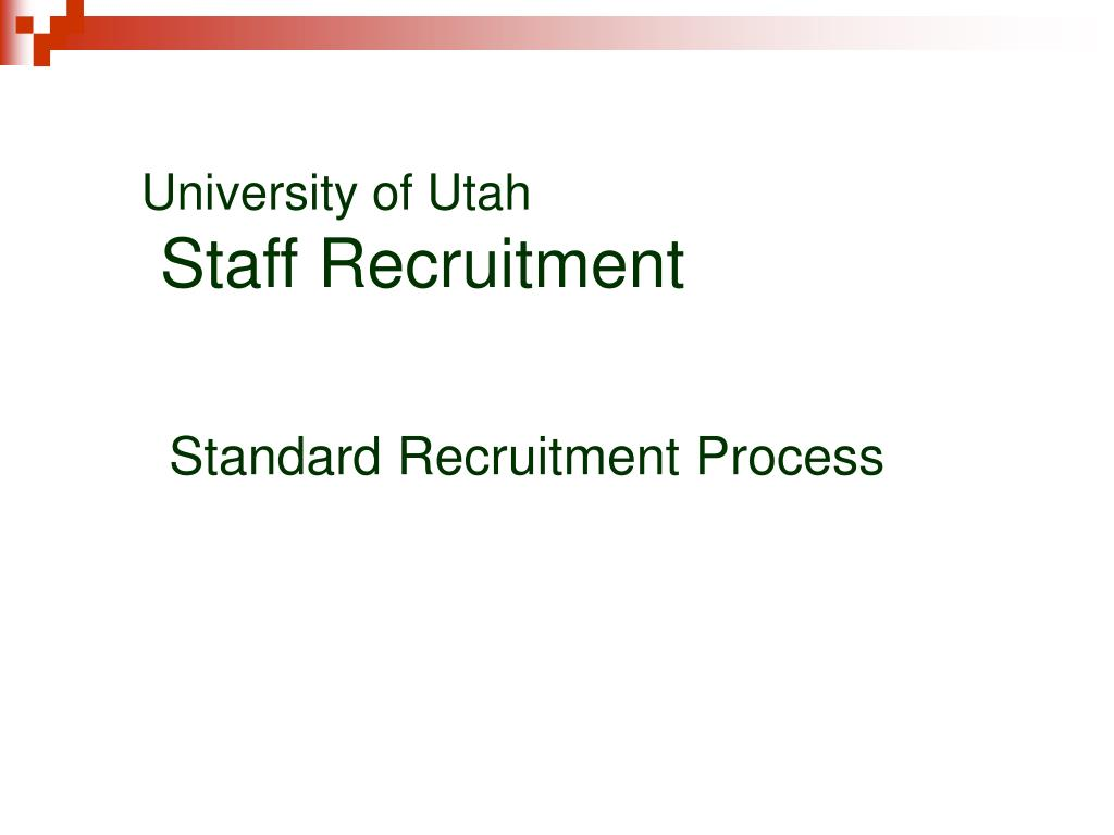 standard recruitment process