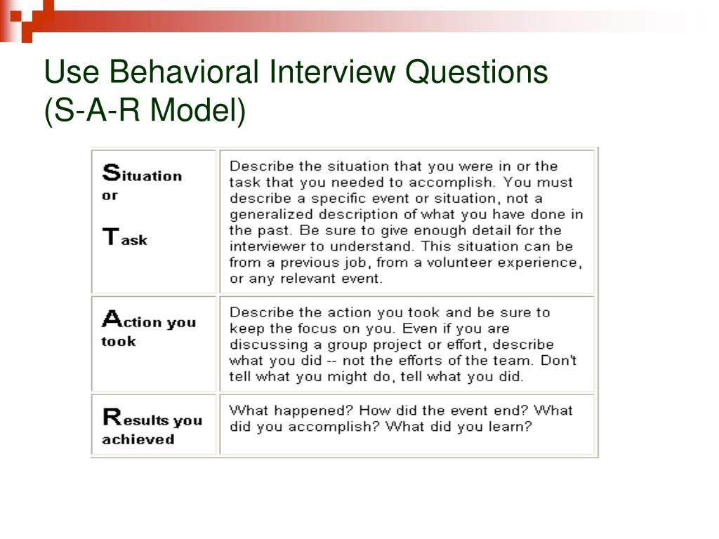 Use Behavioral Interview Questions