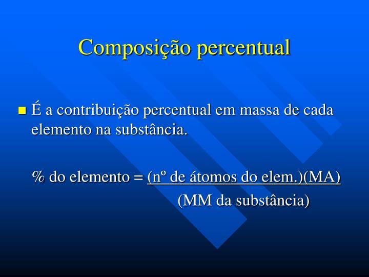 Composição percentual