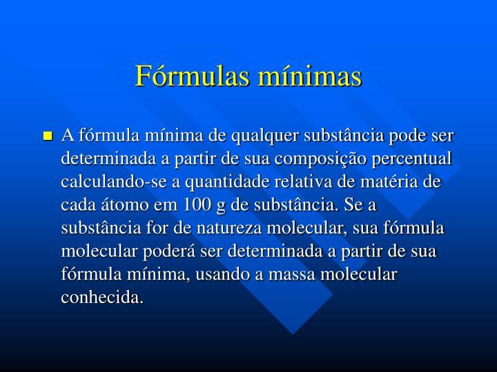 Fórmulas mínimas