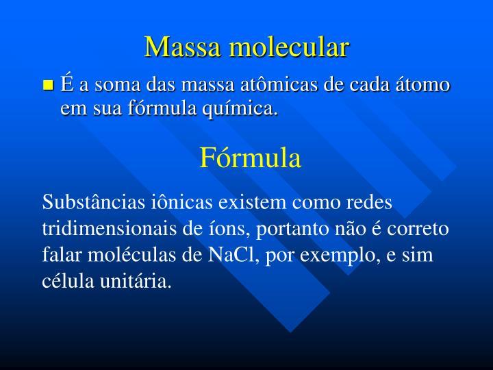 Massa molecular