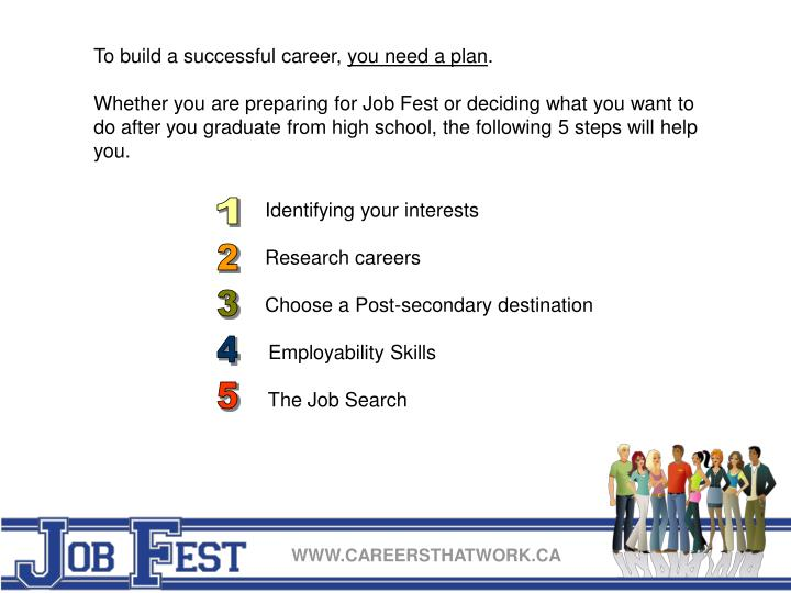 To build a successful career,