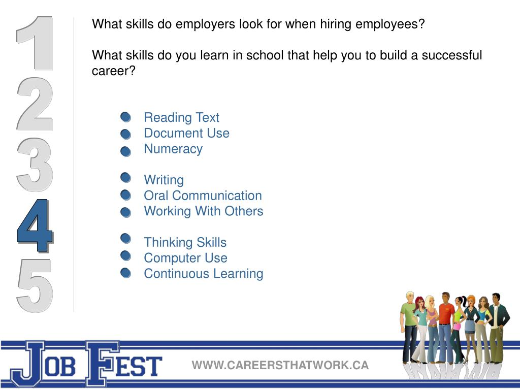 What skills do employers look for when hiring employees?
