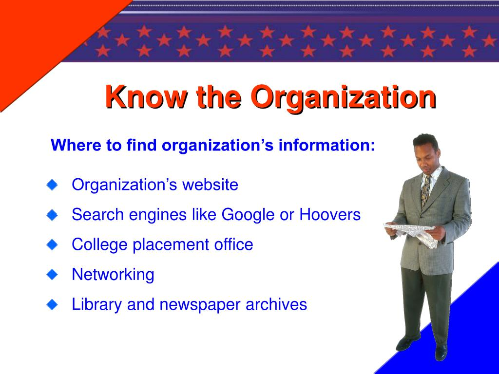 Know the Organization