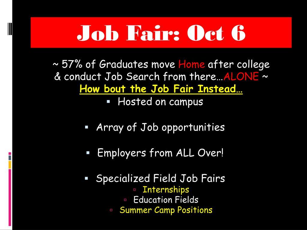Job Fair: Oct