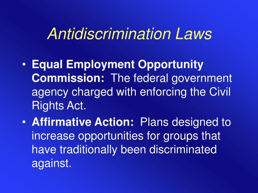 Antidiscrimination Laws