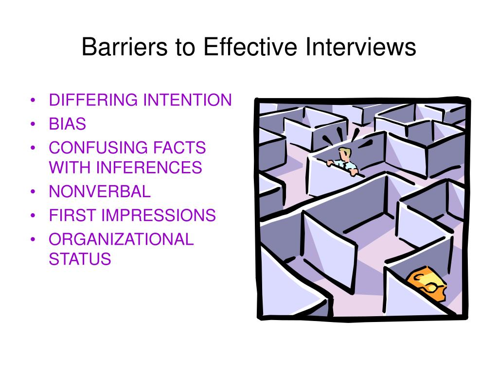 Barriers to Effective Interviews