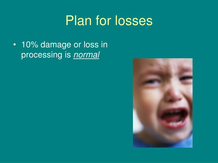 Plan for losses