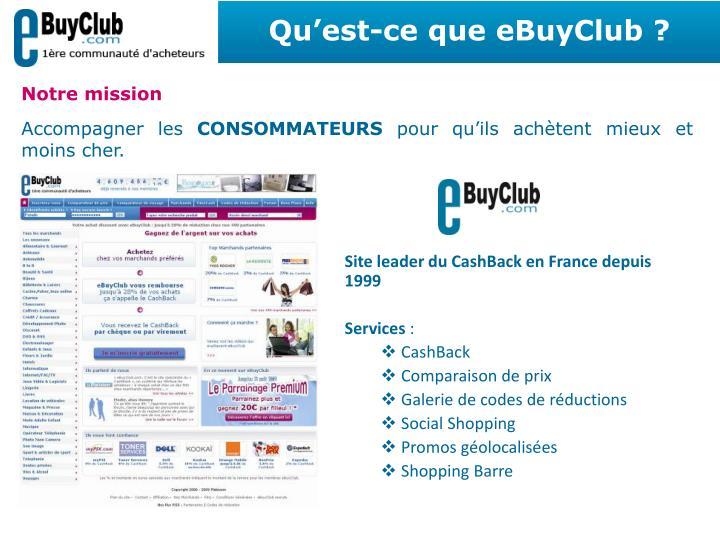 Qu'est-ce que eBuyClub ?
