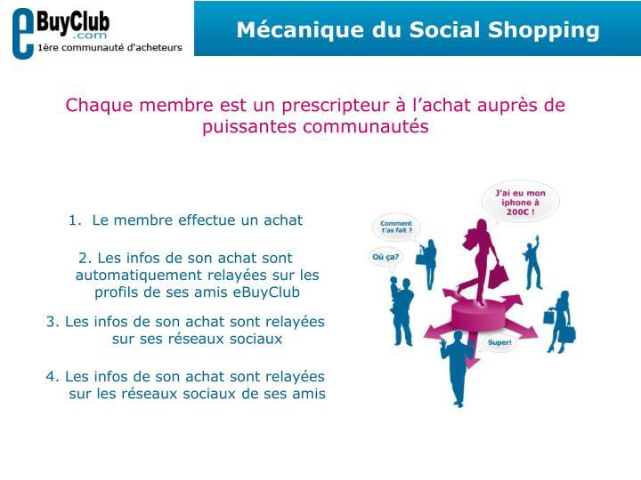 Mécanique du Social Shopping