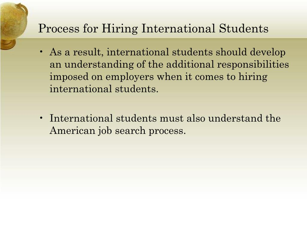 Process for Hiring International Students