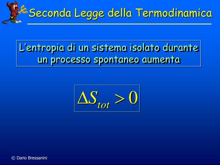 Seconda Legge della Termodinamica