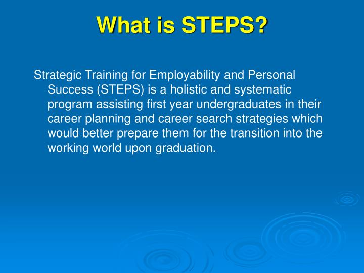 What is steps