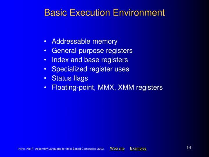 Basic Execution Environment