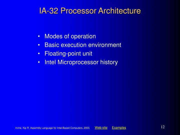 IA-32 Processor Architecture