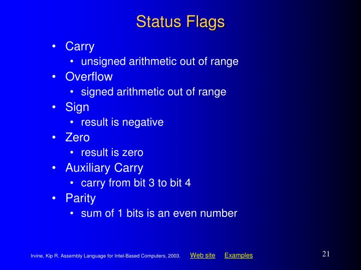 Status Flags