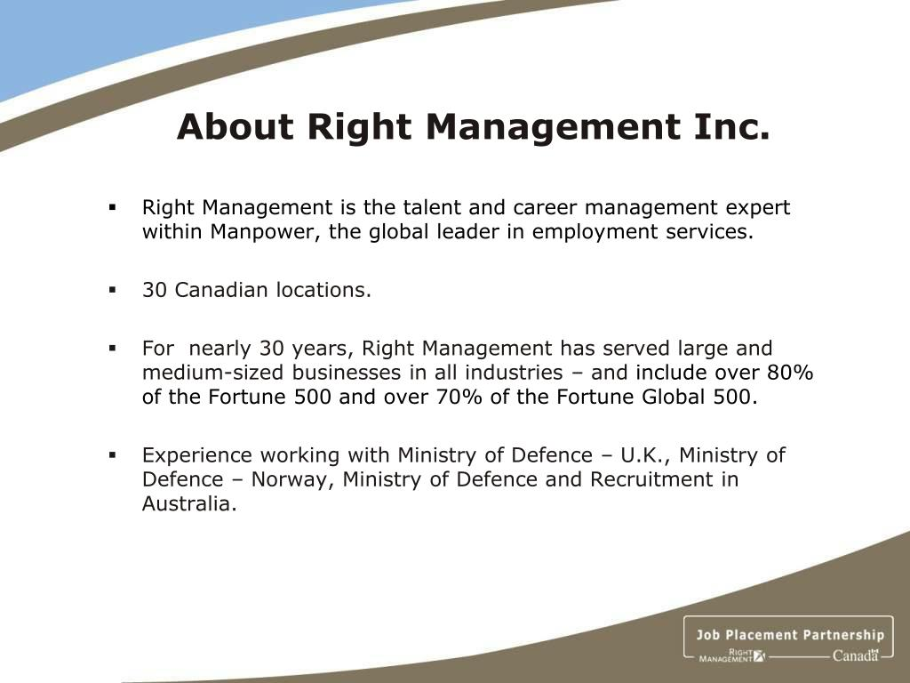 About Right Management Inc.