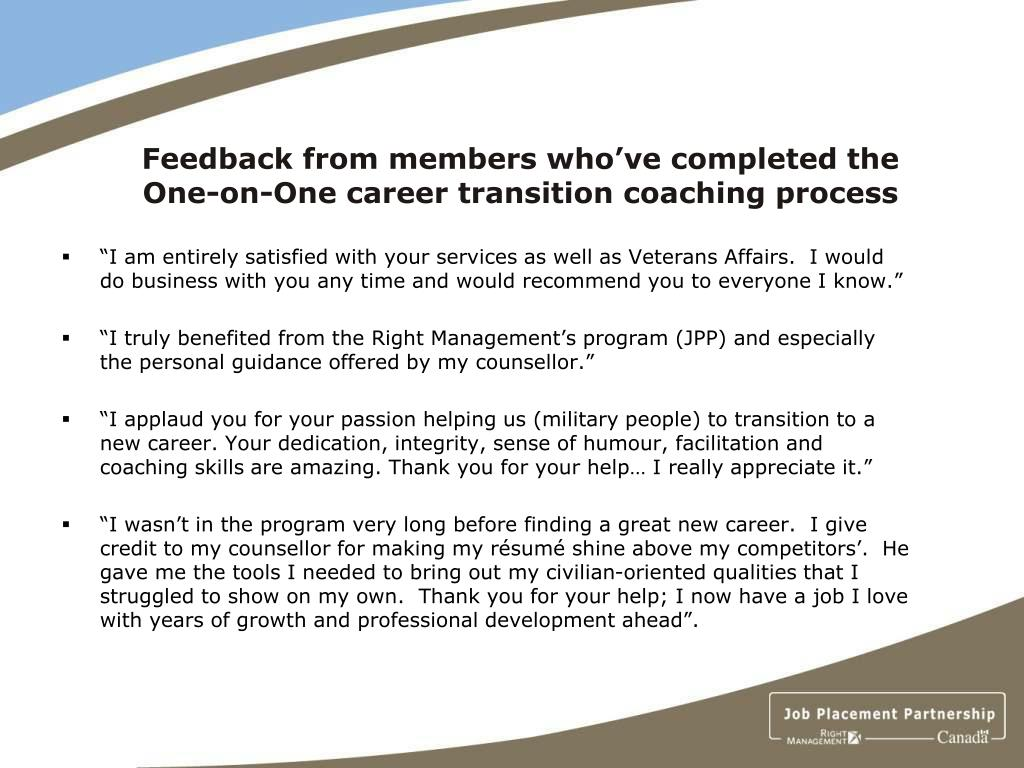 Feedback from members who've completed the