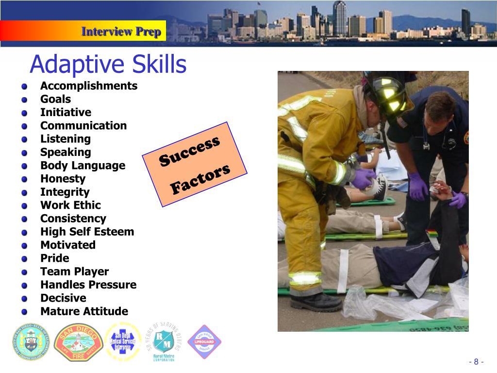 Adaptive Skills