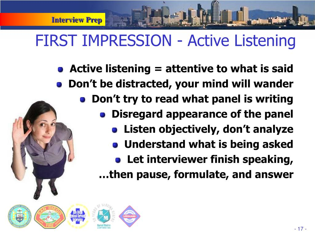 FIRST IMPRESSION - Active Listening