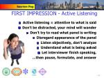 first impression active listening