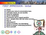 first impression verbal