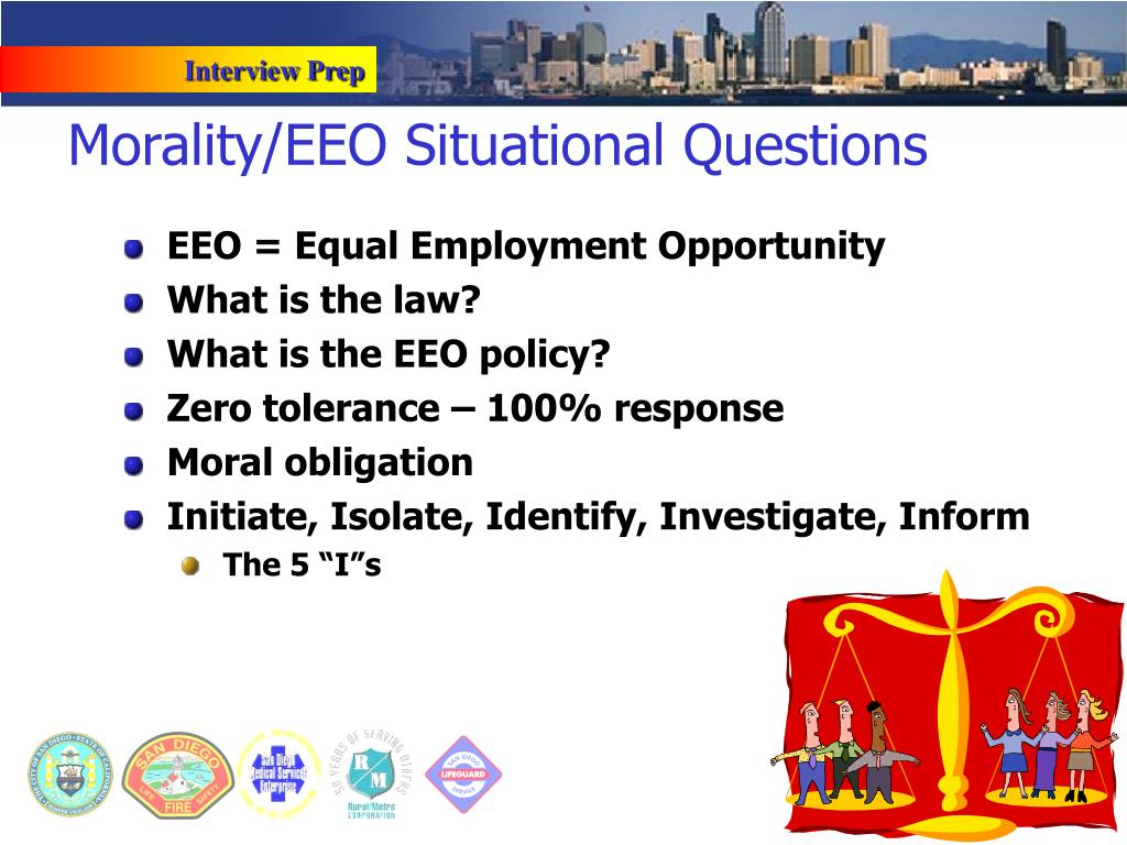 Morality/EEO Situational Questions