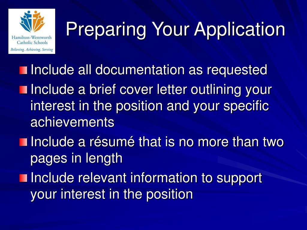 Preparing Your Application