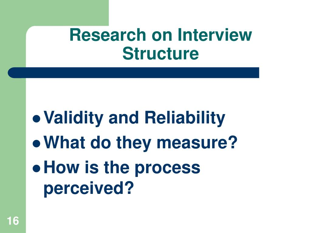 Research on Interview Structure